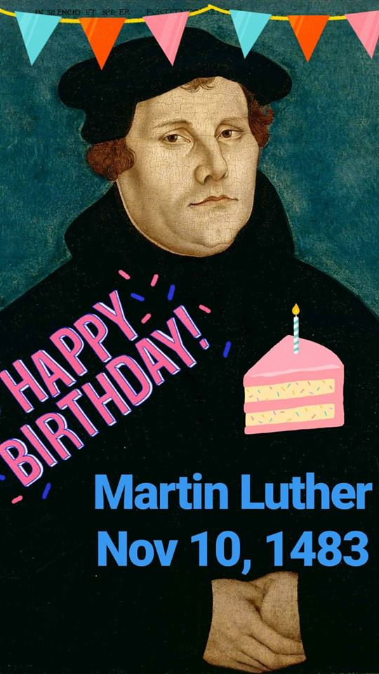 HAPPY BDAY MARTIN LUTHER