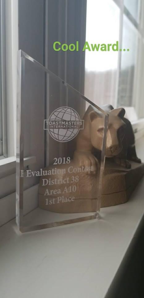Toastmaster's award