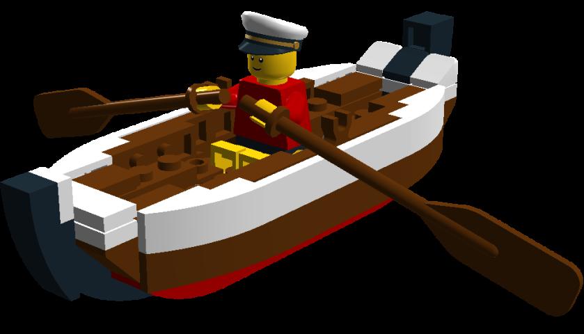 lego rowboat