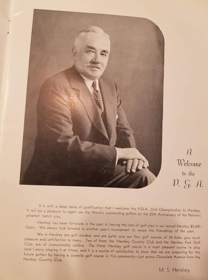 ms hershey 1940 PGA Championship brochure